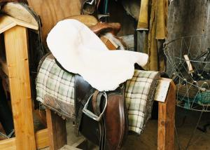 All Purpose / Dressage Saddle Seat Cover Tan Medical