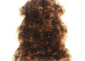 Sheepskin Rug Single Pelt Tan with Brown Tips